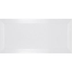 Carrelage métro biseauté blanco mate blanc 10x20 cm - 1m²