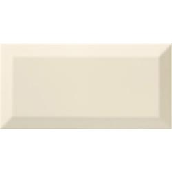Carrelage Métro biseauté bone beige brillant 10x20 cm - 1m²