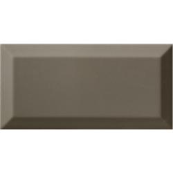 Carrelage Métro biseauté gris foncé brillant DARK GREY 10x20 cm - 1m²