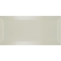 Carrelage Métro biseauté ivoire brillant 10x20 cm - 1m²