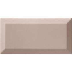 Carrelage Métro biseauté Limestone vieux rose brillant 10x20 cm - 1m²