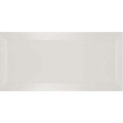 Carrelage Métro biseauté marfil brillant 10x20 cm - 1m²