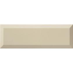 Carrelage Métro biseauté 10x30 cm almond beige brillant - 1.02m² Ribesalbes