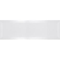 Carrelage métro biseauté 10x30 cm blanc mat - 1.02m²