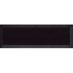 Carrelage Métro biseauté 10x30 cm noir brillant - 1.02m²