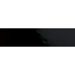 Carreau métro plat noir brillant 10x30 cm - boite de 1.02m²