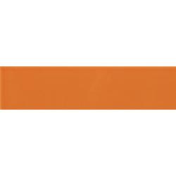 Carreau métro plat orange brillant 10x30 cm - boite de 1.02m²