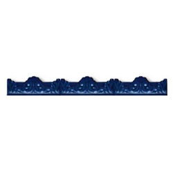 Azulejo Sevillano Moulure Baroque Bleu 5x20 - 29 unités
