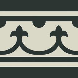Carrelage imitation ciment bordure décor noir 20x20 cm PASION CENEFA NEGRO - unité