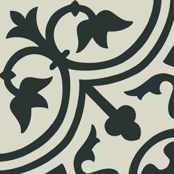 Carrelage imitation ciment décor noir 20x20 cm PASION NEGRO - 1m²