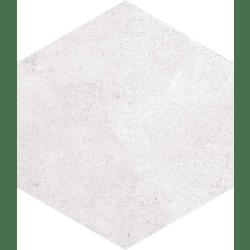 Carrelage hexagonal tomette blanche vieillie 23x26.6cm RIFT Blanche - 0.504m²
