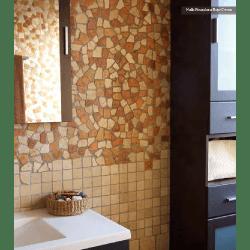 Mosaique Rocaplana - pierre rouge et beige 30x30 - boite de 0.72m²