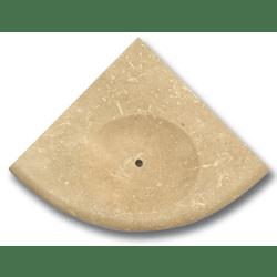 Porte savon travertin beige 15x15 cm SF
