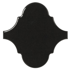 Carreau noir brillant 12x12cm SCALE ALHAMBRA BLACK - 21935 - 0.43m² Equipe