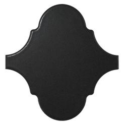 Carreau noir mat 12x12 SCALE ALHAMBRA BLACK MATT - 0.43m² Equipe