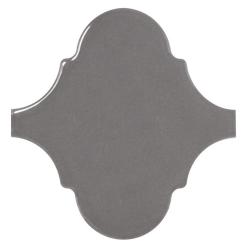 Carreau gris foncé brillant 12x12cm SCALE ALHAMBRA DARK GREY - 0.43m²