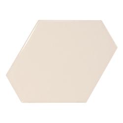 Carreau crème brillant 10.8x12.4cm SCALE BENZENE CREAM - 23826 - 0.44m²