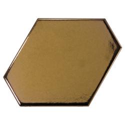 Carreau or métallisé 10.8x12.4cm SCALE BENZENE METALLIC - 23835 - 0.44m²