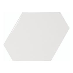 Carreau blanc brillant 10.8x12.4cm SCALE BENZENE WHITE - 23825 - 0.44m²