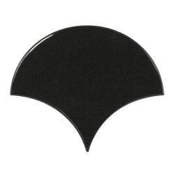 Carreau noir brillant 10.6x12cm SCALE FAN BLACK 21967 - 0.37m²