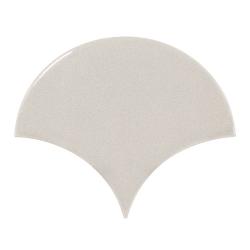 Carreau gris clair brillant 10.6x12cm SCALE FAN LIGHT GREY - 0.37m²