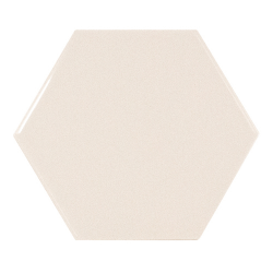 Carreau crème brillant 12.4x10.7cm SCALE HEXAGON CREAM - 0.61m²