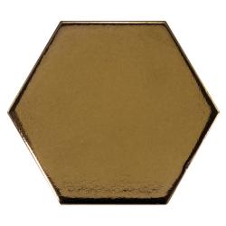 Carreau or métallisé 12.4x10.7cm SCALE HEXAGON METALLIC 23837 - 0.61m²