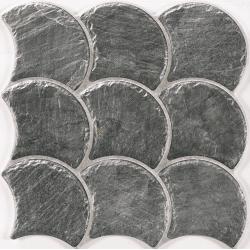 Carreau écaille effet pierre 30x30 SCALE SLATE BLACK - 0.75m