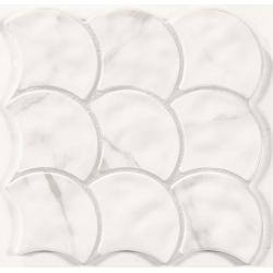 Carreau écaille marbré blanc gris 30x30 SCALE STATUARIO - 0.85m² Realonda