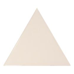 Carreau crème brillant 10.8x12.4cm SCALE TRIANGOLO CREAM - 0.20m²