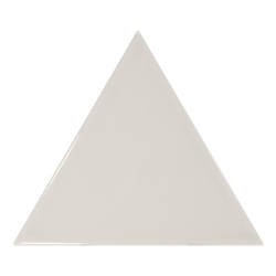 Carreau gris clair brillant 10.8x12.4cm SCALE TRIANGOLO LIGHT GREY - 0.20m²