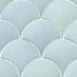 Carreau écaille bleu clair nuancé 12.7x6.2 SQUAMA OCEAN pour sol - 0.35m²