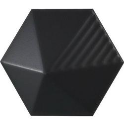 Carrelage effet 3D UMBRELLA BLACK MATT 12.4x10.7 23029 - 0.44m²/bte Equipe