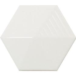 Carrelage effet 3D UMBRELLA WHITE MATT 12.4x10.7 - 23030 - 0.44m²