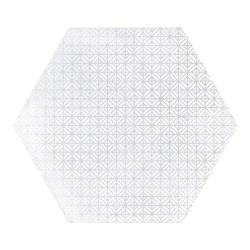 Carrelage hexagonal décor blanc 29.2x25.4cm URBAN HEXAGON MÉLANGE LIGHT 23516 R9 - 1m²
