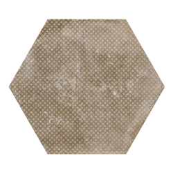 Carrelage hexagonal décor marron 29.2x25.4cm URBAN HEXAGON MÉLANGE NUT 23602 R9 - 1m²