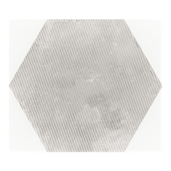 Carrelage hexagonal décor gris 29.2x25.4cm URBAN HEXAGON MÉLANGE SILVER 23603 R9 - 1m²