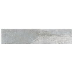 Carrelage moderne gris imitation pierre rectifié 20x120cm (19.2x119.3cm) GREYSTONE-R LEATHER - 0.916m²