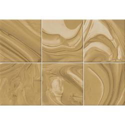 Faïence effet terre mêlée caramel 23x33.5 cm MANKAI CARAMELO - 1m²