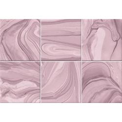 Faïence effet terre mêlée rose 23x33.5 cm MANKAI MARSALA- 1m²