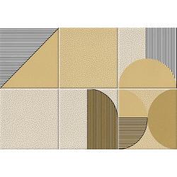Faïence géométrique caramel 23x33.5 cm NAGO CARAMELO - 1m² Vives Azulejos y Gres