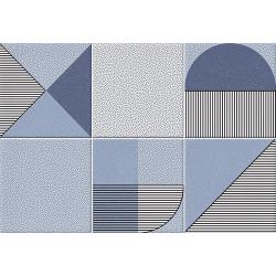 Faïence géométrique bleu marine 23x33.5 cm NAGO INDIGO- 1m² Vives Azulejos y Gres