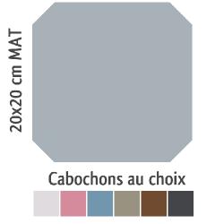 Carrelage octogonal 20x20 gris mat et cabochons CABARET GRIS HUMO - 1m² ASDC