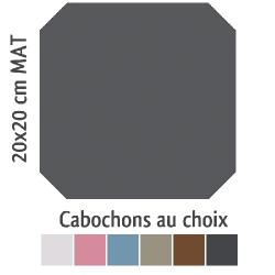 Carrelage octogonal 20x20 anthracite mat et cabochons CABARET ANTRACITA - 1m²