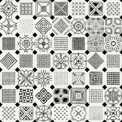 Carrelage octogonal décoré 20x20 mat et cabochons VARIETTE - 1m²