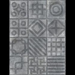 Carrelage imitation ciment 20x20 cm Paulista Grafito anti-dérapant R13 - 1m²