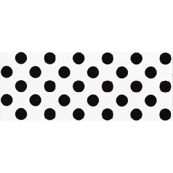 Faience murale blanche à pois noirs RIMINI 20x50cm - 1m²