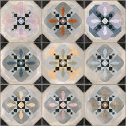 Carrelage imitation cabochons décoré 31x31 cm HYDE - 1m²