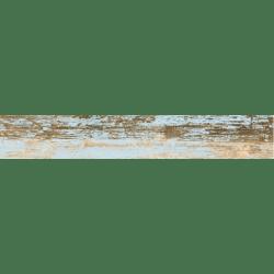 Carrelage imitation parquet bleu rectifié vieilli mat YOGO CIELO 14.4x89.3 - 1.29m²