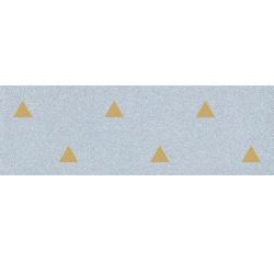 Faience murale bleue motif triangle or 32x99cm BARDOT-R Azul - 1 Vives Azulejos y Gres